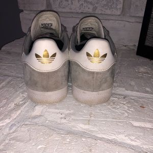 adidas Shoes - Gray Suede Adidas Gazelle Sneakers